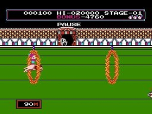 Test Circus Charlie Nes - Screenshot 8