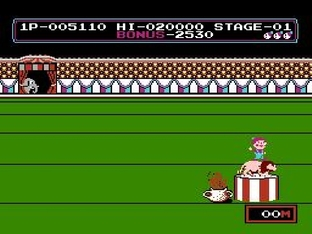 Test Circus Charlie Nes - Screenshot 9
