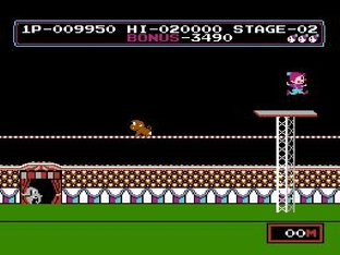 Test Circus Charlie Nes - Screenshot 10
