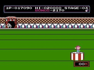 Test Circus Charlie Nes - Screenshot 13