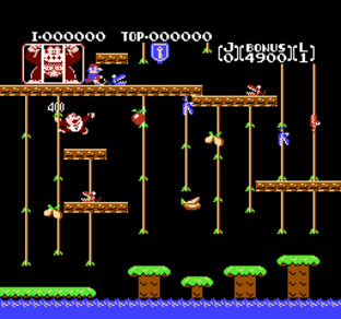 Test Donkey Kong Jr. Nes - Screenshot 1