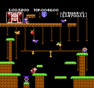 Test Donkey Kong Jr. Nes - Screenshot 2