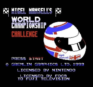 Fiche complète Nigel Mansell's World Championship - Nes