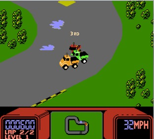 Test R.C. Pro-Am Nes - Screenshot 7