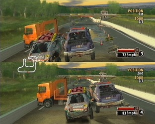 Test Flat Out PlayStation 2 - Screenshot 57