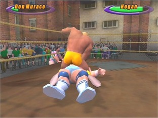 Test Legends Of Wrestling PlayStation 2 - Screenshot 1