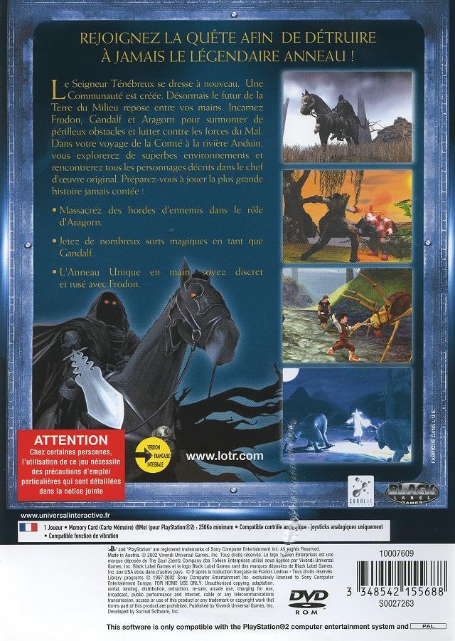 Seigneur des Anneaux : La Communauté de l'Anneau - PlayStation 2