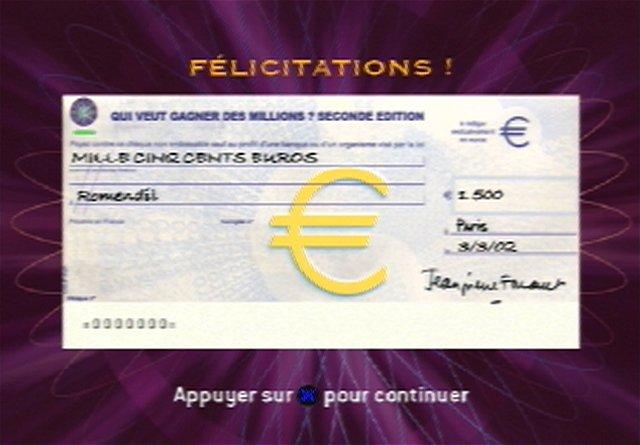 Qui Veut Gagner des Millions : 2ème Edition - PlayStation 2 - image 8