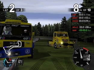 Test Super Trucks PlayStation 2 - Screenshot 1