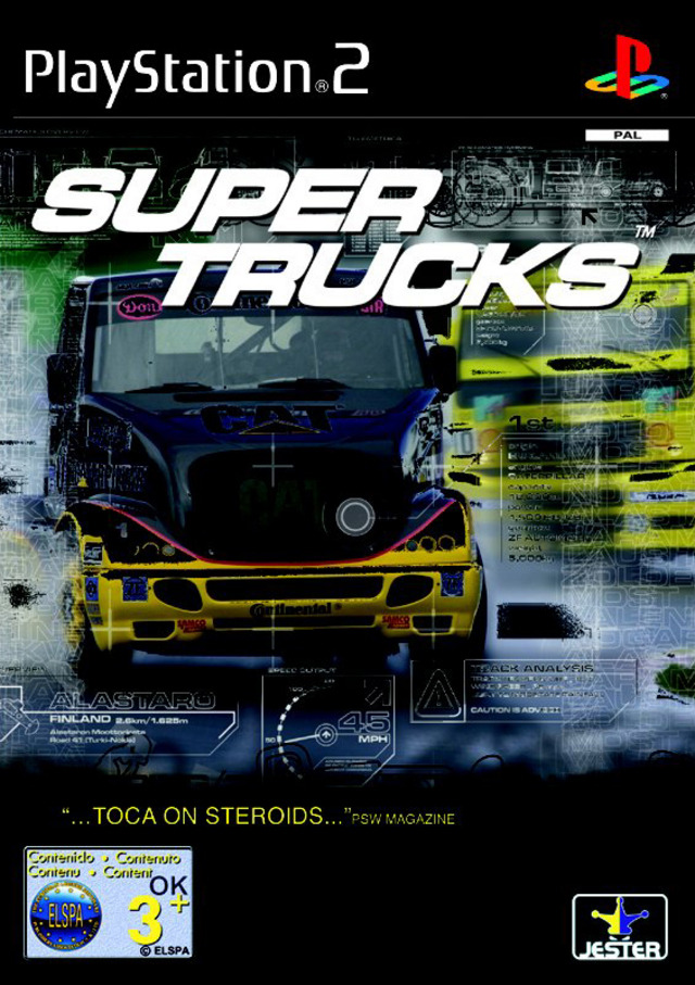 super trucks sur playstation 2. Black Bedroom Furniture Sets. Home Design Ideas