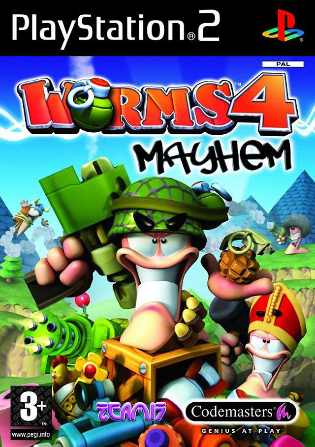worms 4 mayhem sur playstation