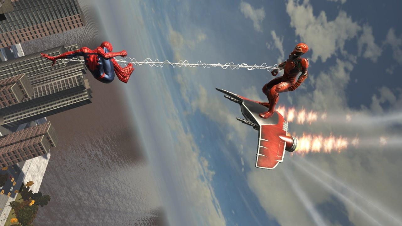 spider man web of shadows tisse sa toile