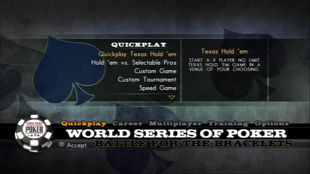 World Series of Poker 2008 : Battle for the Bracelets
