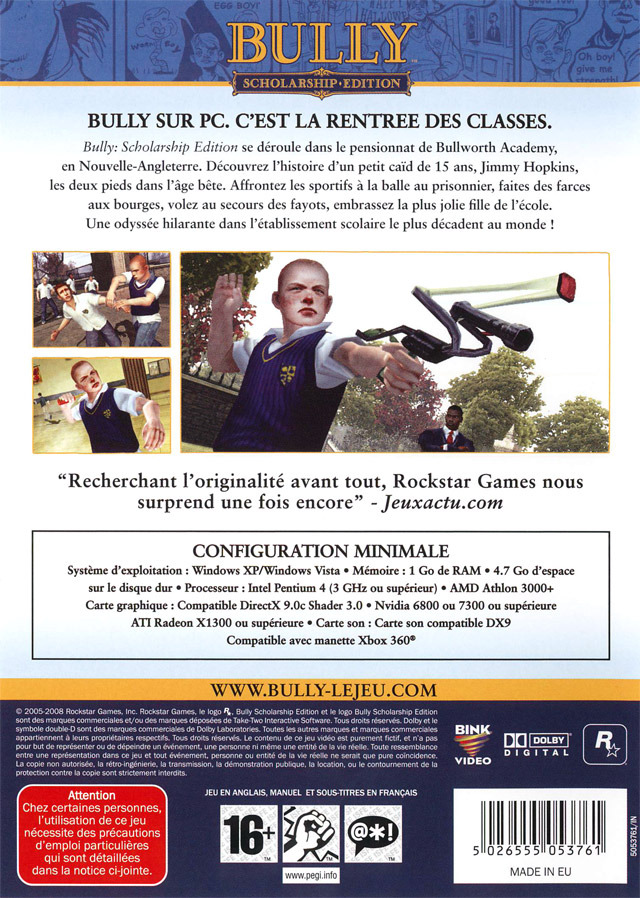jeuxvideo.com Bully : Scholarship Edition - PC Image 2 sur 291
