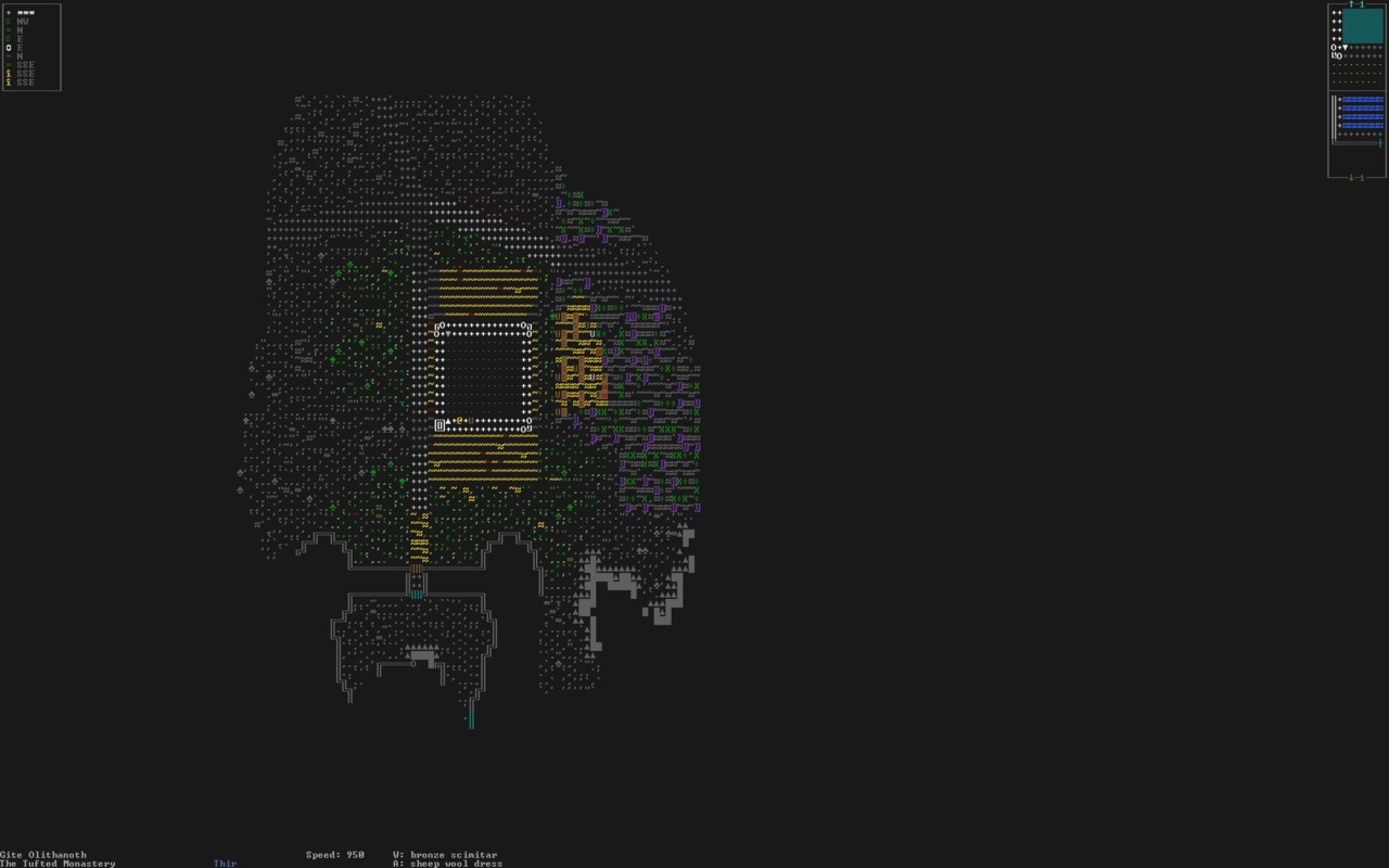Capture d'écran du jeu Dwarf Fortress