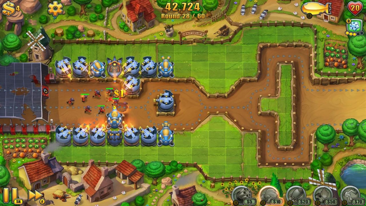 Screens Zimmer 3 angezeig: fieldrunners 2 for pc