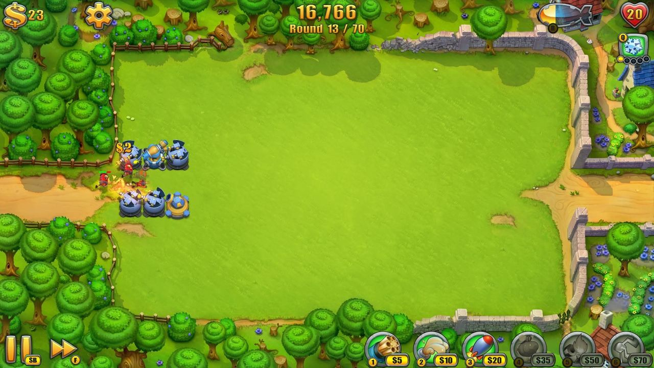 Screens Zimmer 1 angezeig: fieldrunners 2 for pc