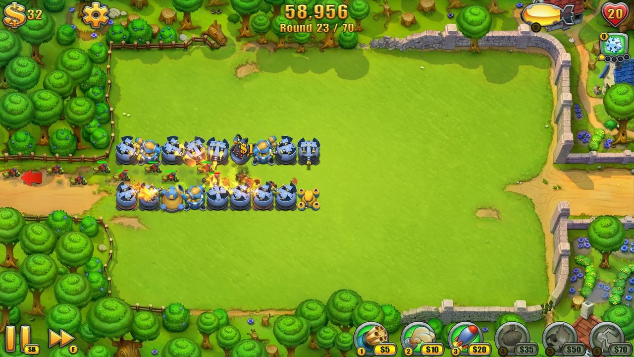 Screens Zimmer 4 angezeig: fieldrunners 2 for pc