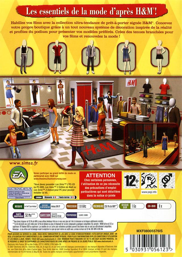 jeuxvideo.com Les Sims 2 : Kit H&M Fashion - PC Image 2 sur 11