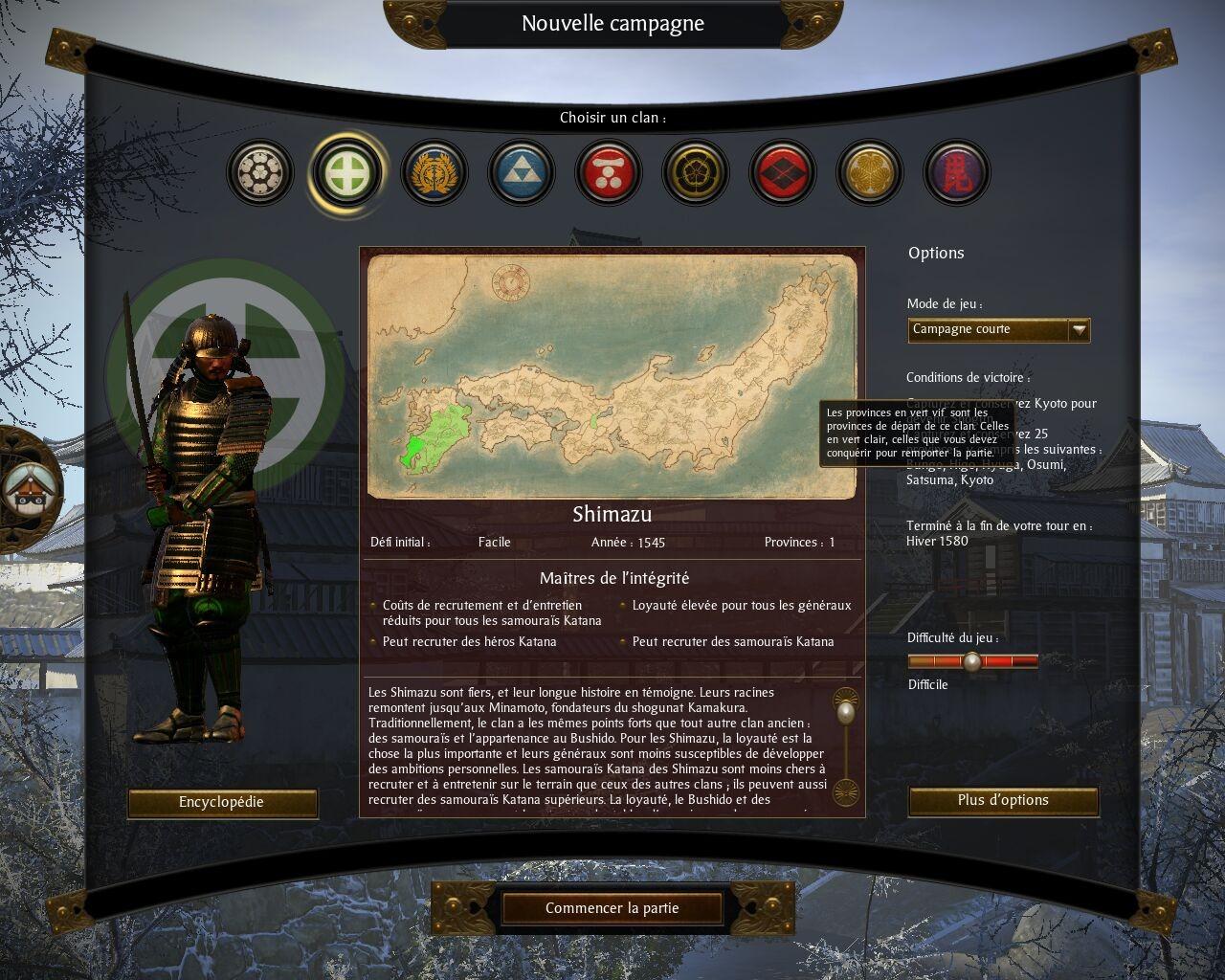 Telecharger total war shogun 2 for Choix ecran pc