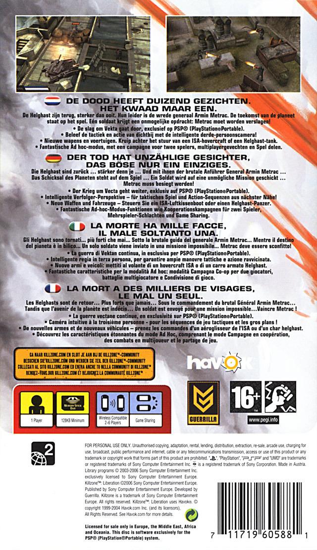 [Test] Killzone Libération - 2006 - PSP Kilipp0r