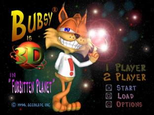 Test Bubsy 3D PlayStation - Screenshot 1