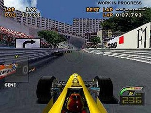 Test F1 Racing Championship PlayStation - Screenshot 1