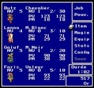 Test Final Fantasy V PlayStation - Screenshot 76