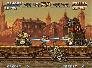 Test Metal Slug X PlayStation - Screenshot 4