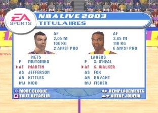 Test NBA Live 2003 PlayStation - Screenshot 2