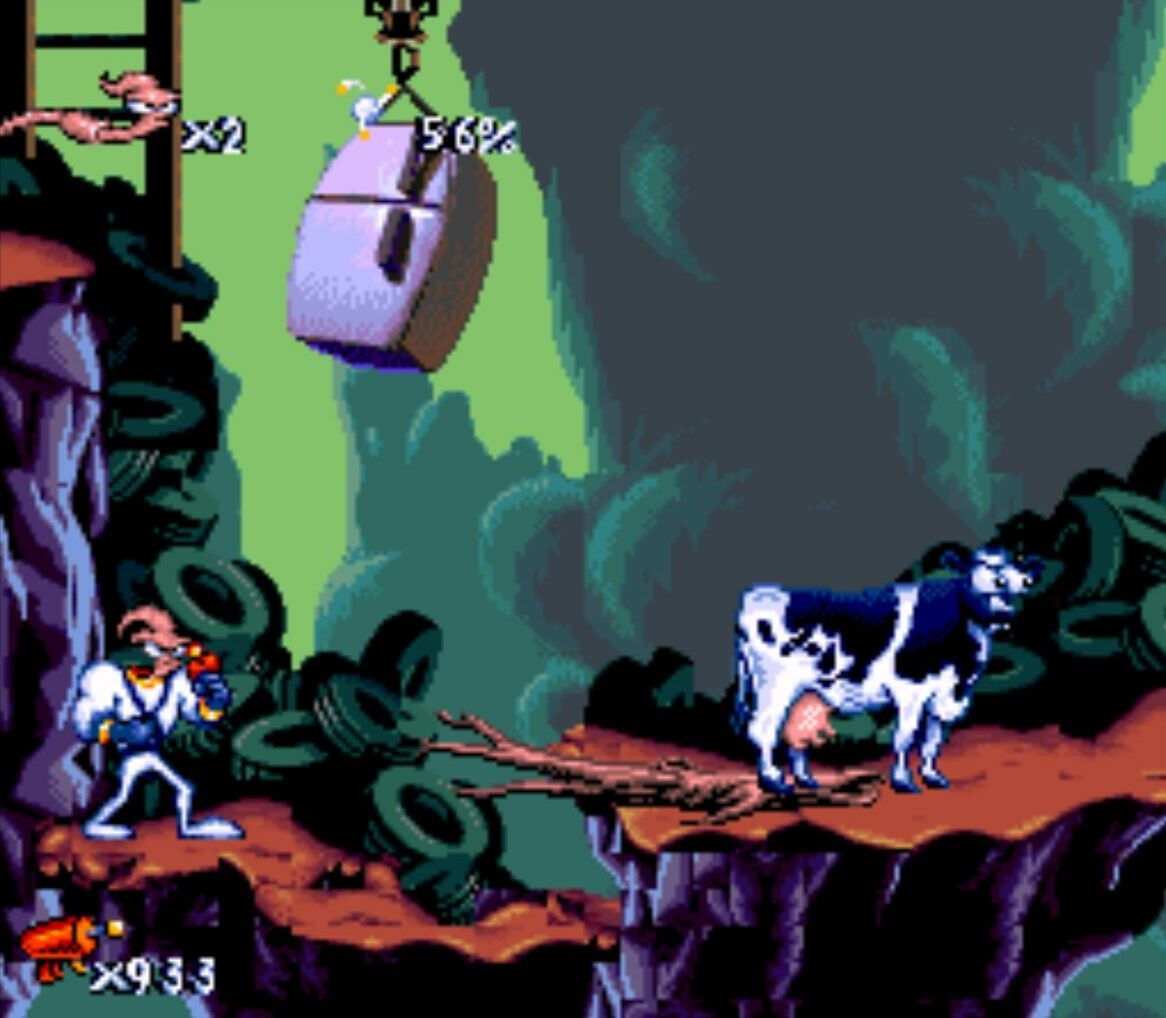 earthworm jim 3d paid tribute to the original earthworm jim by having