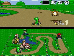 Test Super Mario Kart Super Nintendo - Screenshot 1