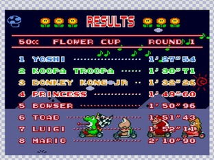 Test Super Mario Kart Super Nintendo - Screenshot 5
