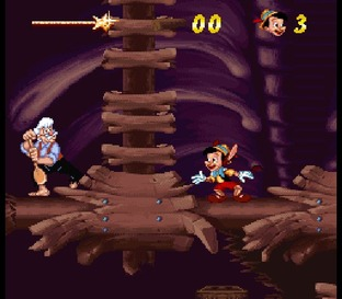 Test Pinocchio Super Nintendo - Screenshot 2