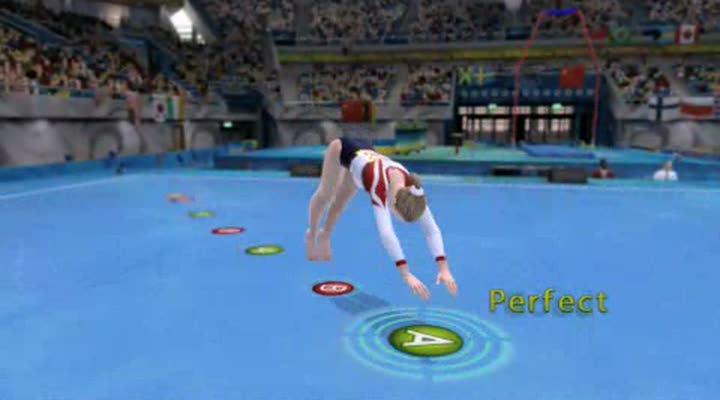 gameplay beijing 2008 le jeu vid o officiel des jeux olympiques gymnastique au sol. Black Bedroom Furniture Sets. Home Design Ideas