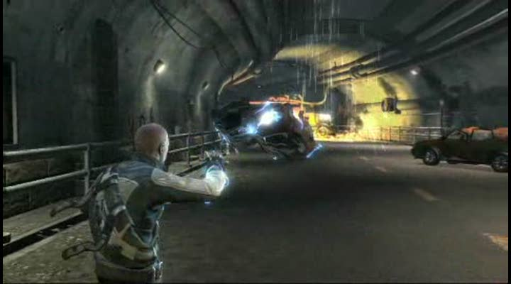 gameplay infamous un tunnel malfam233 jeuxvideocom
