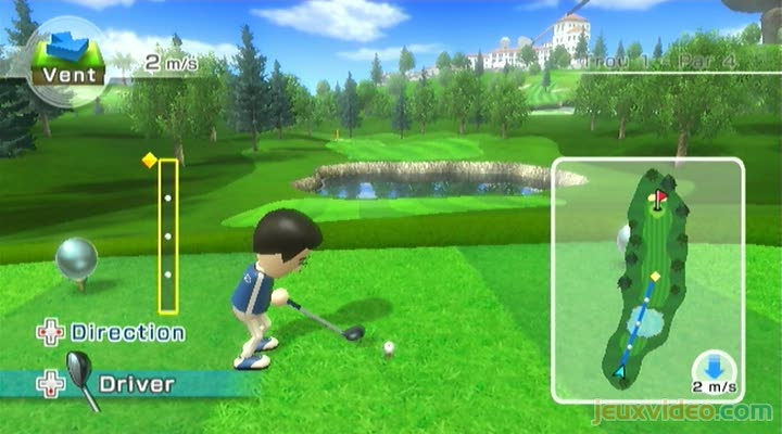 Gameplay Wii Sports Resort : Golf - 3 trous - jeuxvideo com