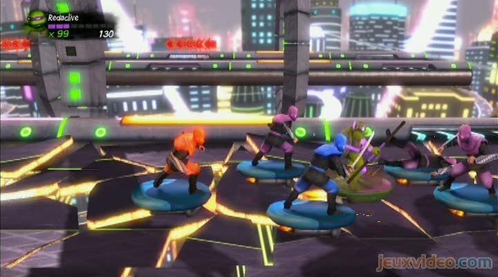 Gameplay Teenage Mutant Ninja Turtles : Turtles In Time Re-Shelled : Combats Dans Les Airs