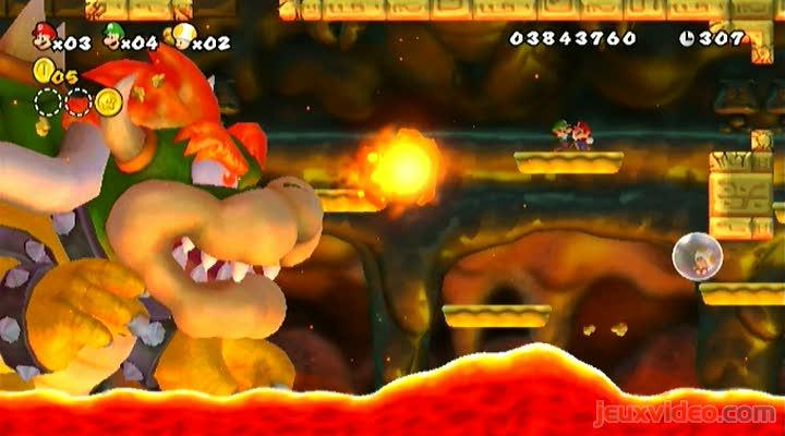 Gameplay new super mario bros wii bowser phase 2 - Monstre de mario ...