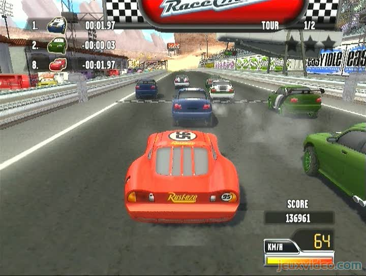 gameplay cars race o rama course classique. Black Bedroom Furniture Sets. Home Design Ideas