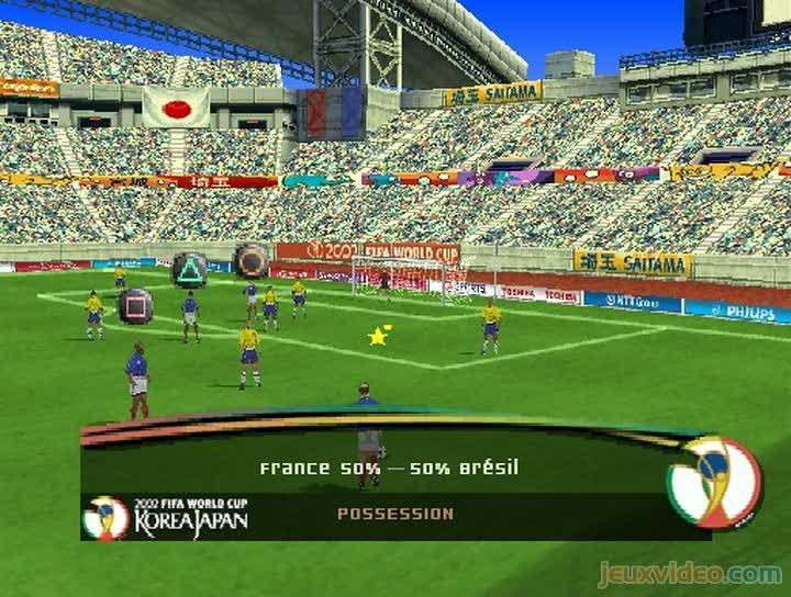 Gameplay coupe du monde fifa 2002 france br sil pour - Bresil coupe du monde 2002 ...