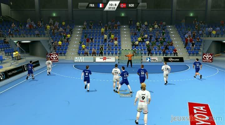 gameplay ihf handball challenge 12 france vs norv ge. Black Bedroom Furniture Sets. Home Design Ideas