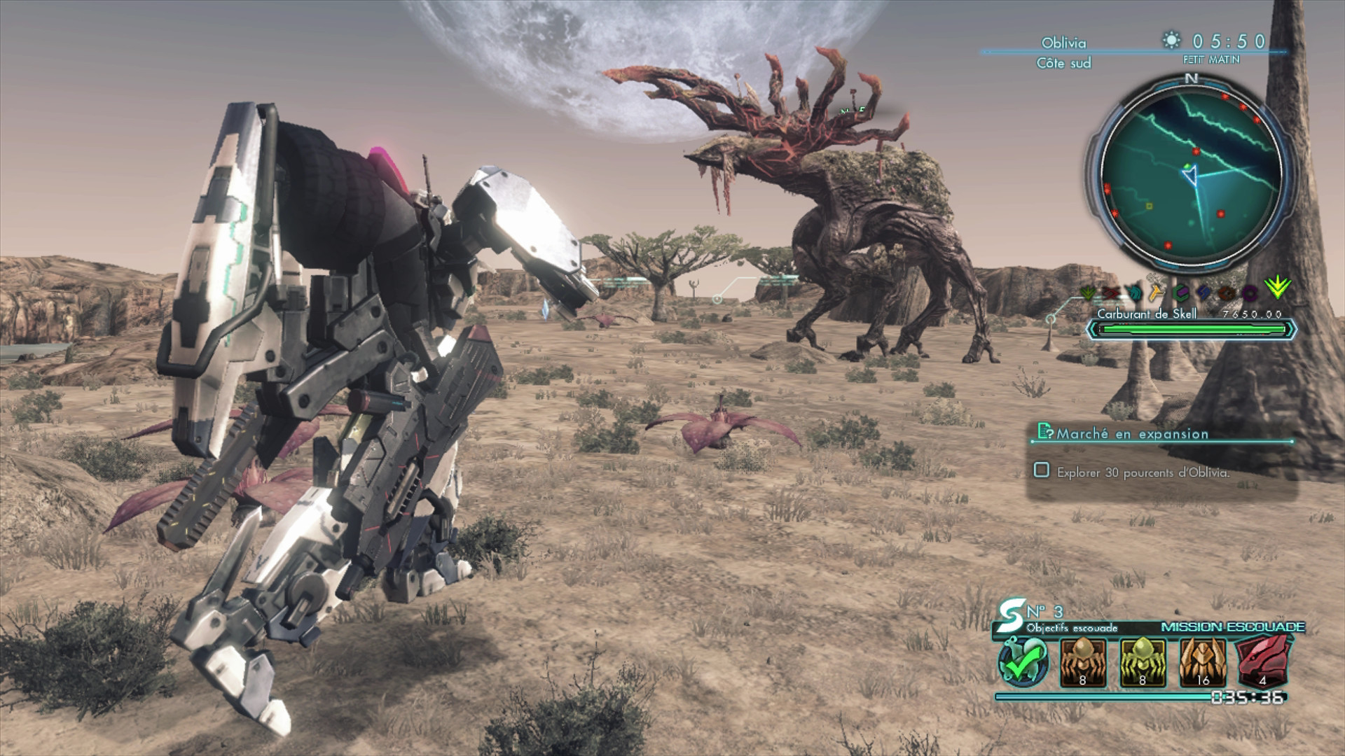 gameplay xenoblade chronicles x les skell. Black Bedroom Furniture Sets. Home Design Ideas