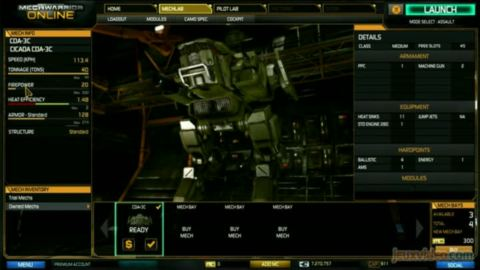 MechWarrior Online : 3/3 : L'interface et le MechLab