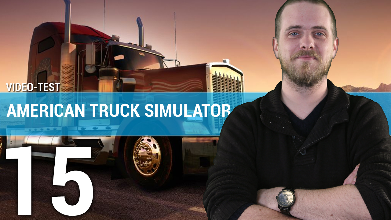 test american truck simulator sur pc en vid o. Black Bedroom Furniture Sets. Home Design Ideas