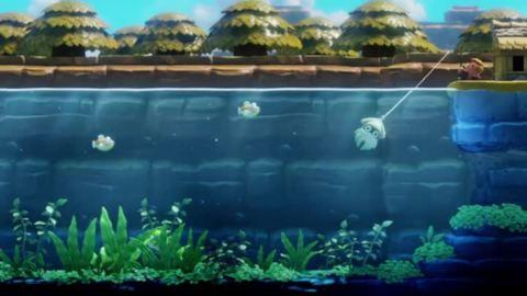 Link's Awakening - Pêche d'un Bloups