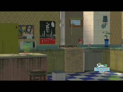 Bande annonce les sims 2 kit cuisine et salle de bain for Kit salle de bain design