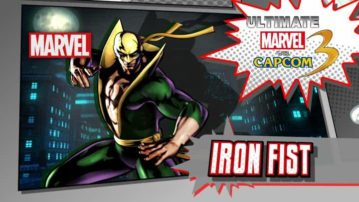 bande annonce ultimate marvel vs capcom 3 tgs 2011 nouveaux personnages iron fist. Black Bedroom Furniture Sets. Home Design Ideas