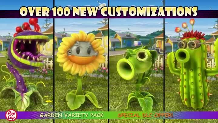 Bande-annonce Plants vs Zombies : Garden Warfare : Garden Variety Pack - jeuxvideo.com