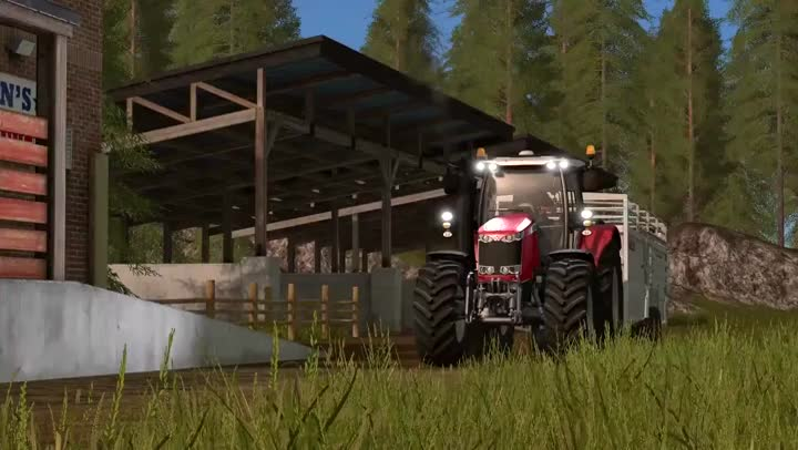 bande annonce farming simulator 17 soyez gentils avec les animaux. Black Bedroom Furniture Sets. Home Design Ideas